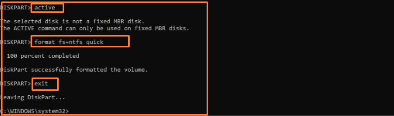 CMD used to bootable pendrive