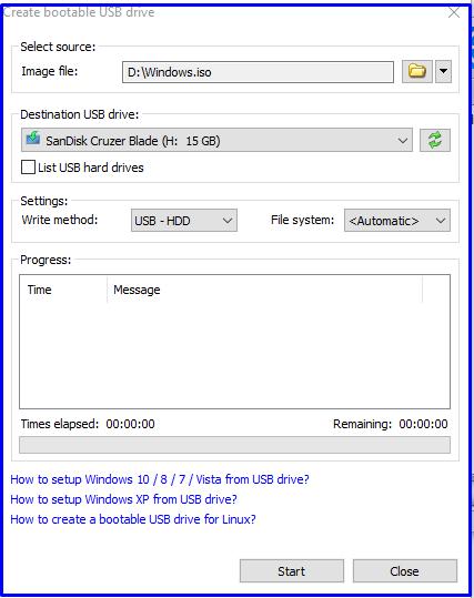 Start create Bootable Pendrive Using PowerISO