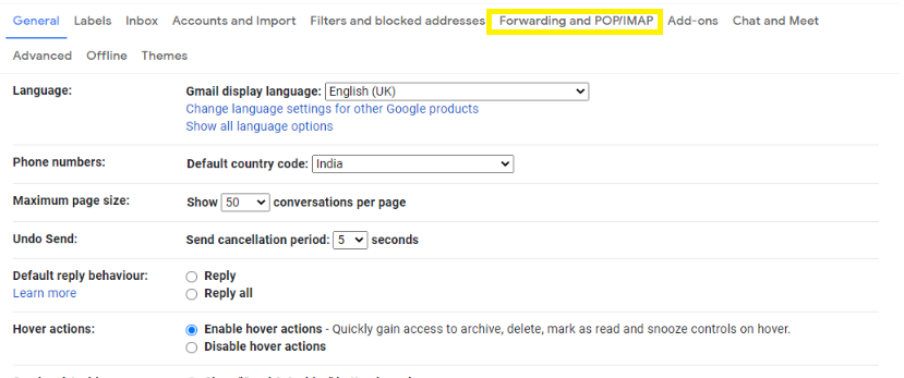 configure outlook for Gmail
