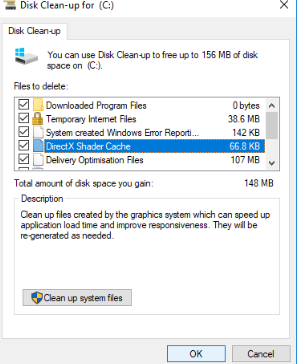Disk Clean-up files