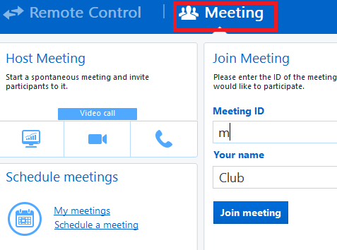 Meeting TeamViewer