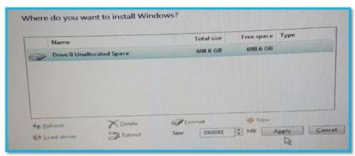 Partitions in Windows