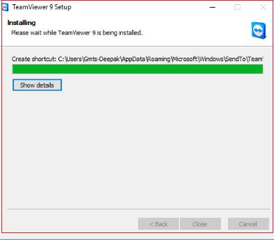 TeamViewer Installing