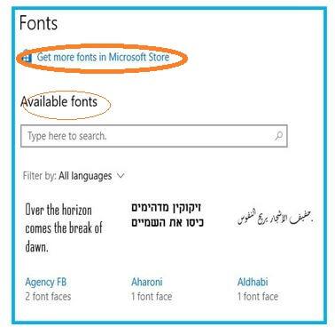 Fonts Options