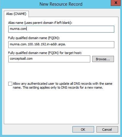 Alias name in server 2019