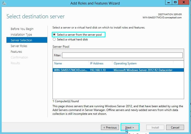 DHCP Server Destination