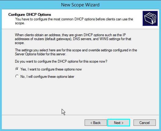 DNS server scope Options