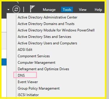 Dns Options in Tools