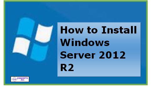 Install Windows server 2012 R2