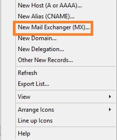 Mx records Options