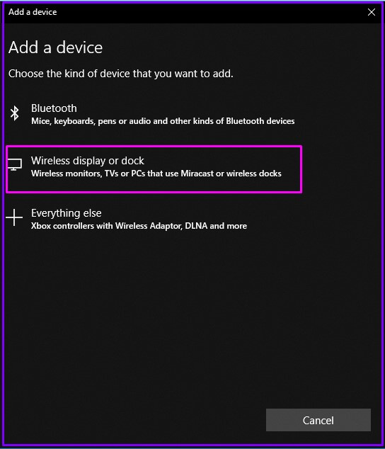 Wireless Display Options