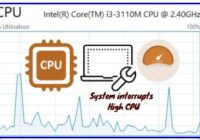 system interrupts high cpu