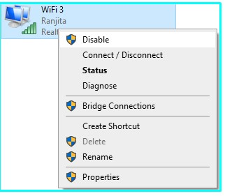Disable Enable WiFi