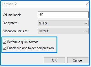 Format using Disk management