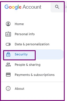 Google Account Security Options