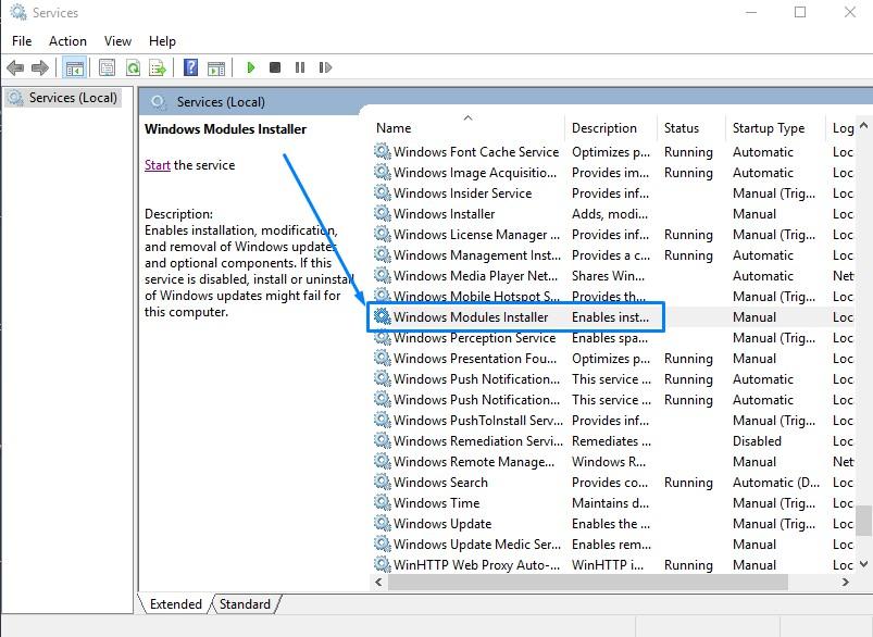 Windows Module Installer