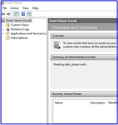 How to Open Event Viewer