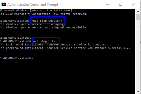 Stop Windows services