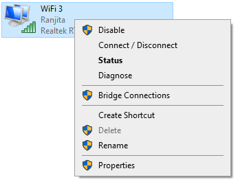 WiFI disable or enable