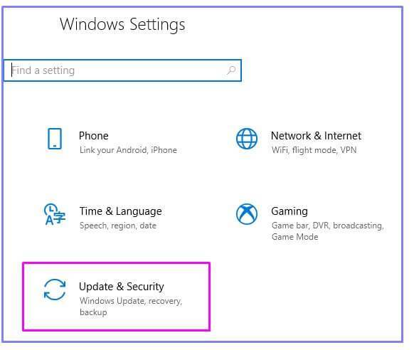 Windows-Update-settings on Windows 10