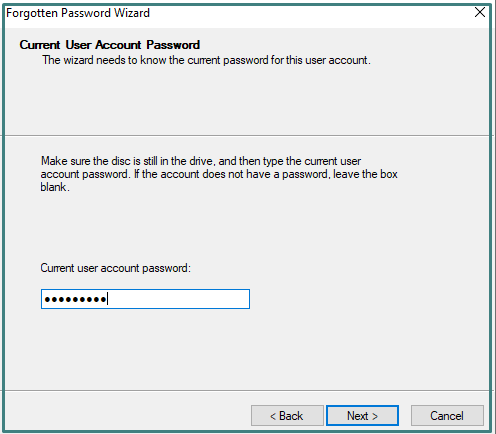 Current Password of system