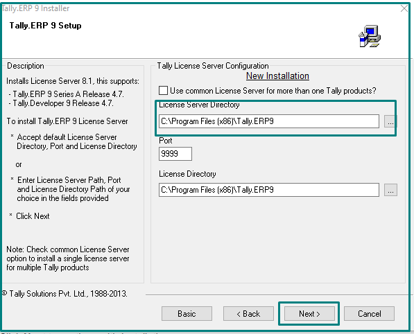 Terms and  conditions of Tally.ERP 9