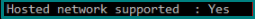 Hosted Network Support status