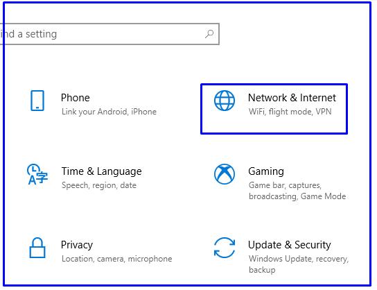 Internet Settings Options Windows 10