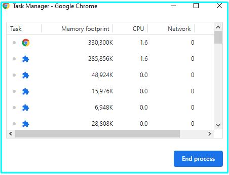 end task google chrome