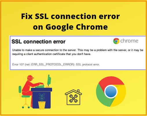 SSL connection error on google chrome