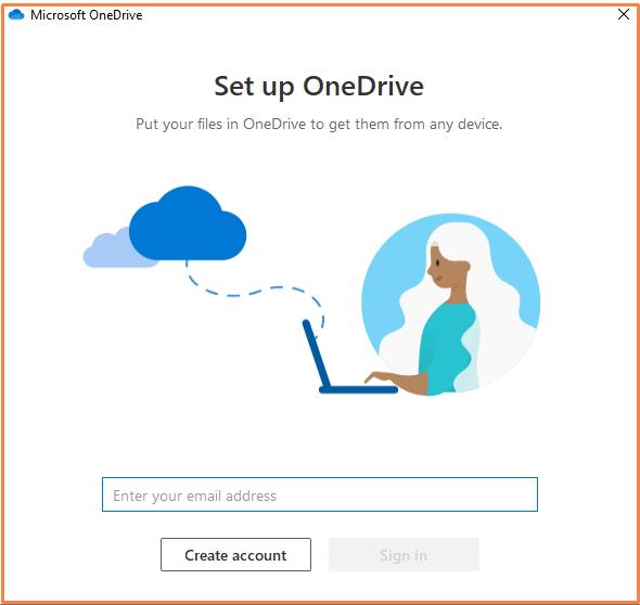 set up OneDrive on Windows 10