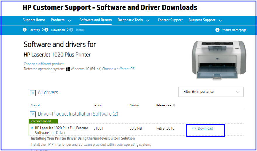 Download HP drivers for windows