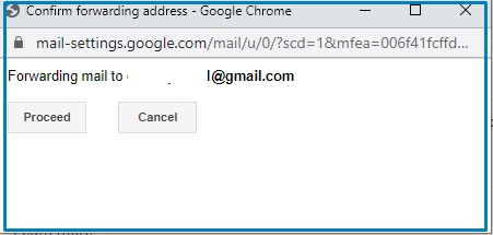 Forwarding Email proceed