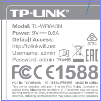 Tp-link router id password