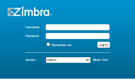 Zimbra Mail web client