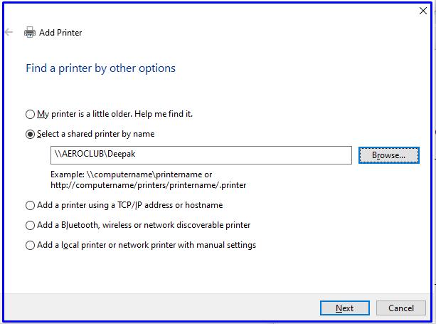 Browse Printer
