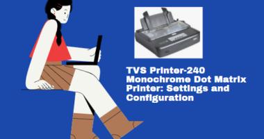TVS MSP 240 Star Monochrome Dot Matrix Printer