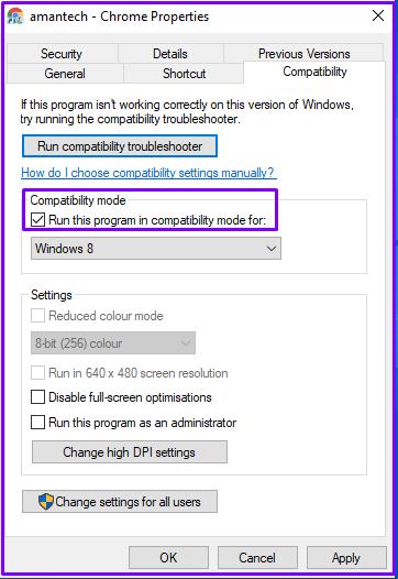 chrome as Compatibility Mode