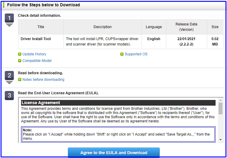 Accept term and condition to download