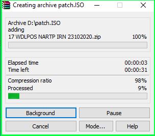 Create ISO file using WinRAR