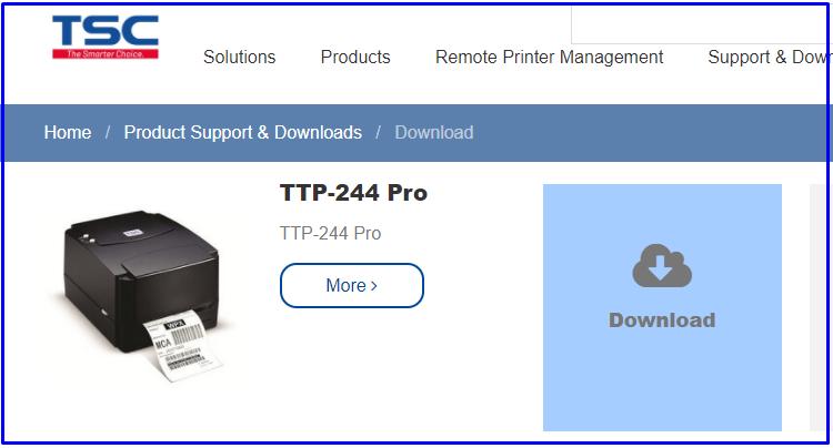 Download TTP 244 Barcode printer Drivers