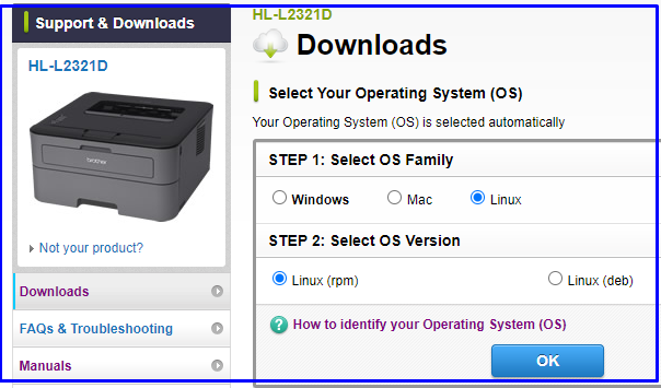 Install Brother Printer driver on Linux