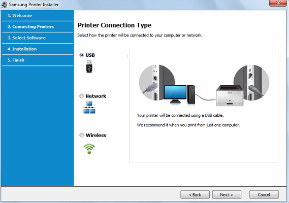 Connection Type as USB