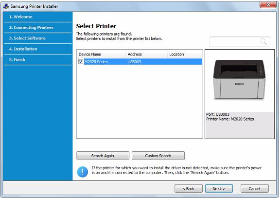 select Printer Type