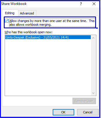 Share Excel for editing