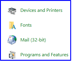 Devices and Printers Options in Windows 10