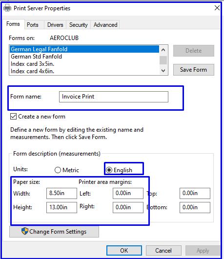 Paper Size Option in TVS Start 250 Printer