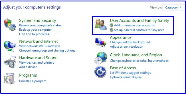 Windows 7 User accounts