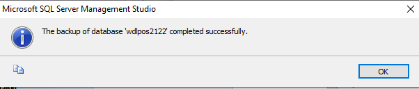 backup done successfully