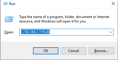 network drive might permissions